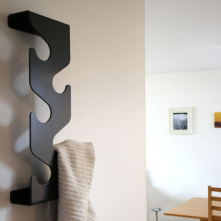 Wave coatrack - sort knager�kke