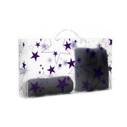 �ske til st�vler - lilla stjerner (Tica)