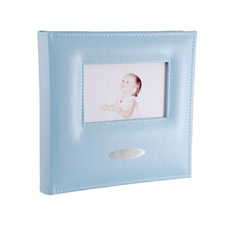 Blåt baby fotoalbum