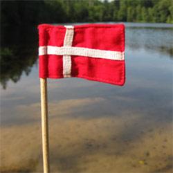 F�dselsdagsflag i stof - 5 stk.