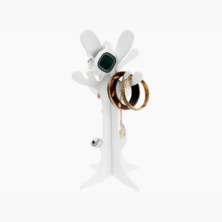 Smykkeholder - hvid