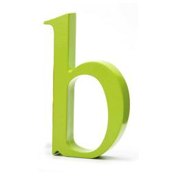 Bogstav b - lime grøn