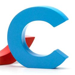 Bogstav c - blå