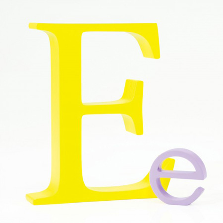 Bogstav E - gul
