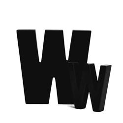 Sort bogstav - W