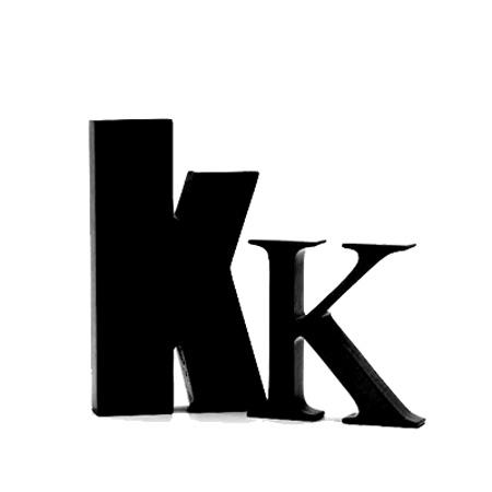Sort bogstav - K