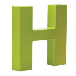 Bogstav H - lime gr�n