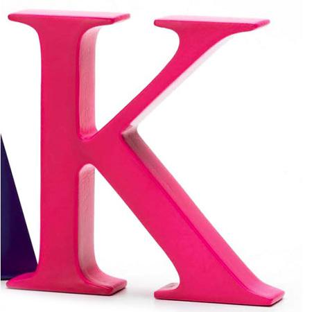 Bogstav K - pink
