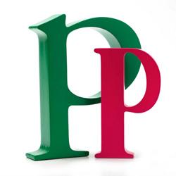 Bogstav p - grøn