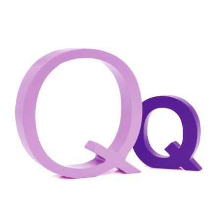 Bogstav Q - lys lilla