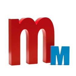 Bogstav M - blå