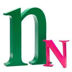 Bogstav N - pink
