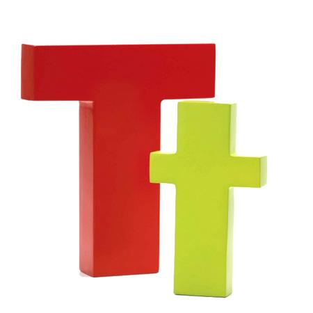 Bogstav T - rød