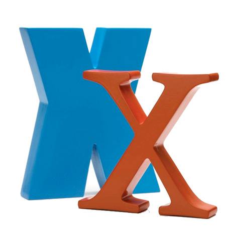 Bogstav X - blå