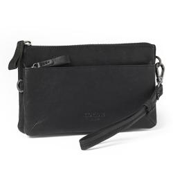 Corium clutch sort læder