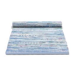 Tæppe blå mix - 75 x 300 cm