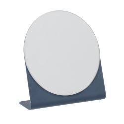 Image of   Rund spejl med blå fod