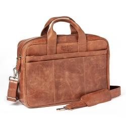 Image of   Laptop taske - brun vintage skind