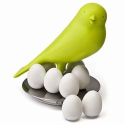 Grøn fugl med magneter fra qualy på fenomen