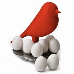 qualy Rød fugl med magneter fra fenomen