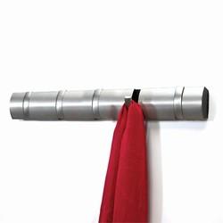 Image of   Flip knagerække - stål farvet