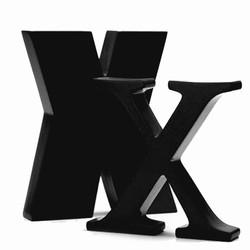 okholm Sort bogstav - x fra fenomen
