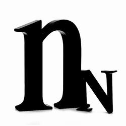 Sort bogstav - n fra okholm fra fenomen
