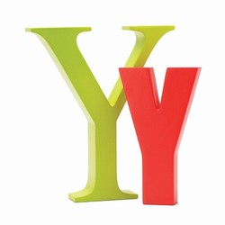 Image of   Bogstav Y - lime grøn