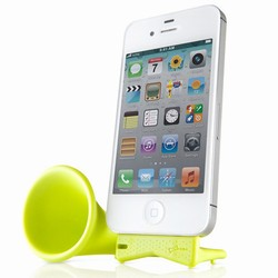 Image of   Horn Stand pro til iPhone 4/4S - lime