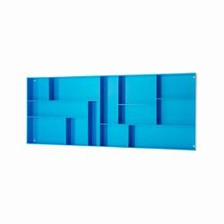 Image of   Sættekasse - blå akryl