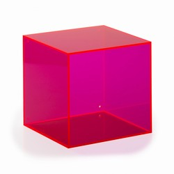 Image of   Akryl kasse kvadratisk - pink