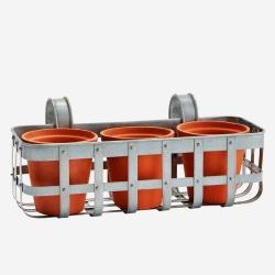 Image of   Altankasse 3 potter - zink