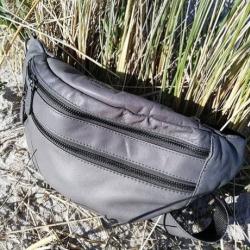 Billede af Bæltetaske grå læder - Corium Design