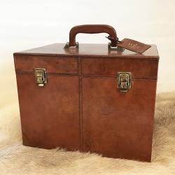 Image of   Beautybox cognac læder - Cofur