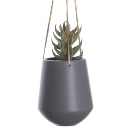 Image of   Blomster krukke hængende i grå - large