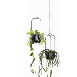 Image of   Hænge blomster krukker 2 stk - sorte
