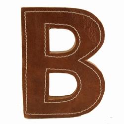 Image of   Læder bogstav - B