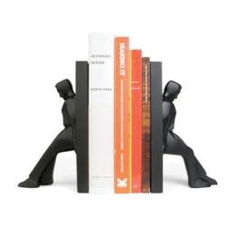 kikkerland – Bookends leaning men - bogstøtter på fenomen