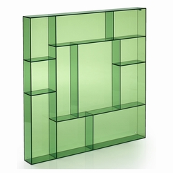 neon living Sættekasse kvadratisk - grøn akryl fra fenomen
