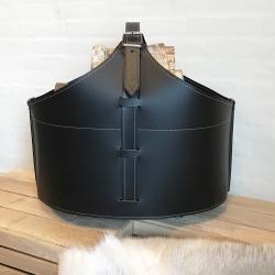 Image of   Brændekurv læder Fabia - sort