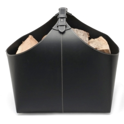 Image of   Brændekurv - sort læder