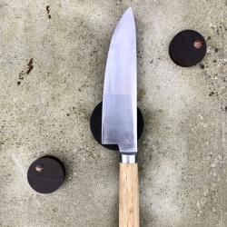 Image of   By Brorson knivmagneter 3 stk. - røget egetræ
