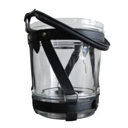 Image of   Champagnekøler - glas og læder