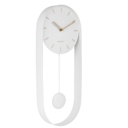 karlsson – Charm pendulur vægur - hvid fra fenomen