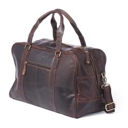Rejsetaske i mørk brun læder - Corium