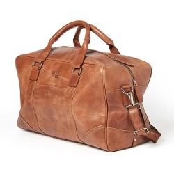 Rejsetaske - cognac læder