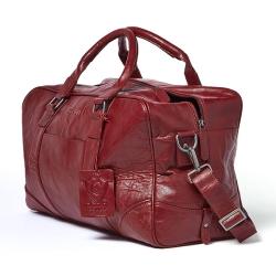 Image of   Rejsetaske - rød læder
