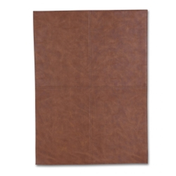 Image of   Dækkeserviet brun firkantet