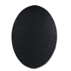 Image of   Dækkeserviet sort oval