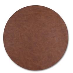 Image of   Dækkeserviet brun rund